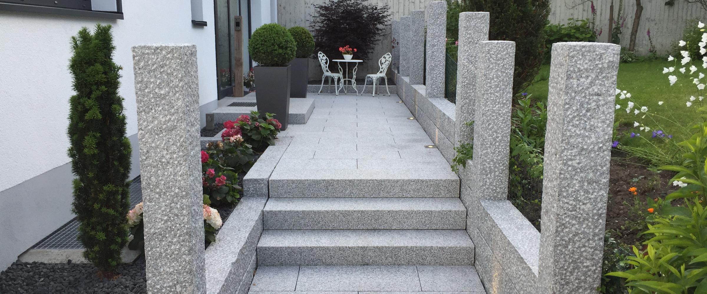 Machen Sie Ihren Hauszugang mit Natursteinen aus Granit zu etwas Besonderem