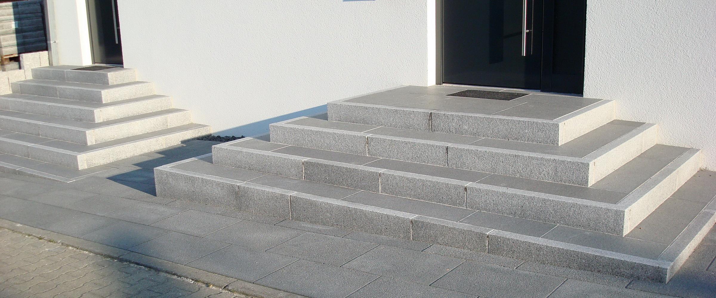 Mit pyramidenförmigen Treppen wird Ihr Hauseingang zum echten Blickfang