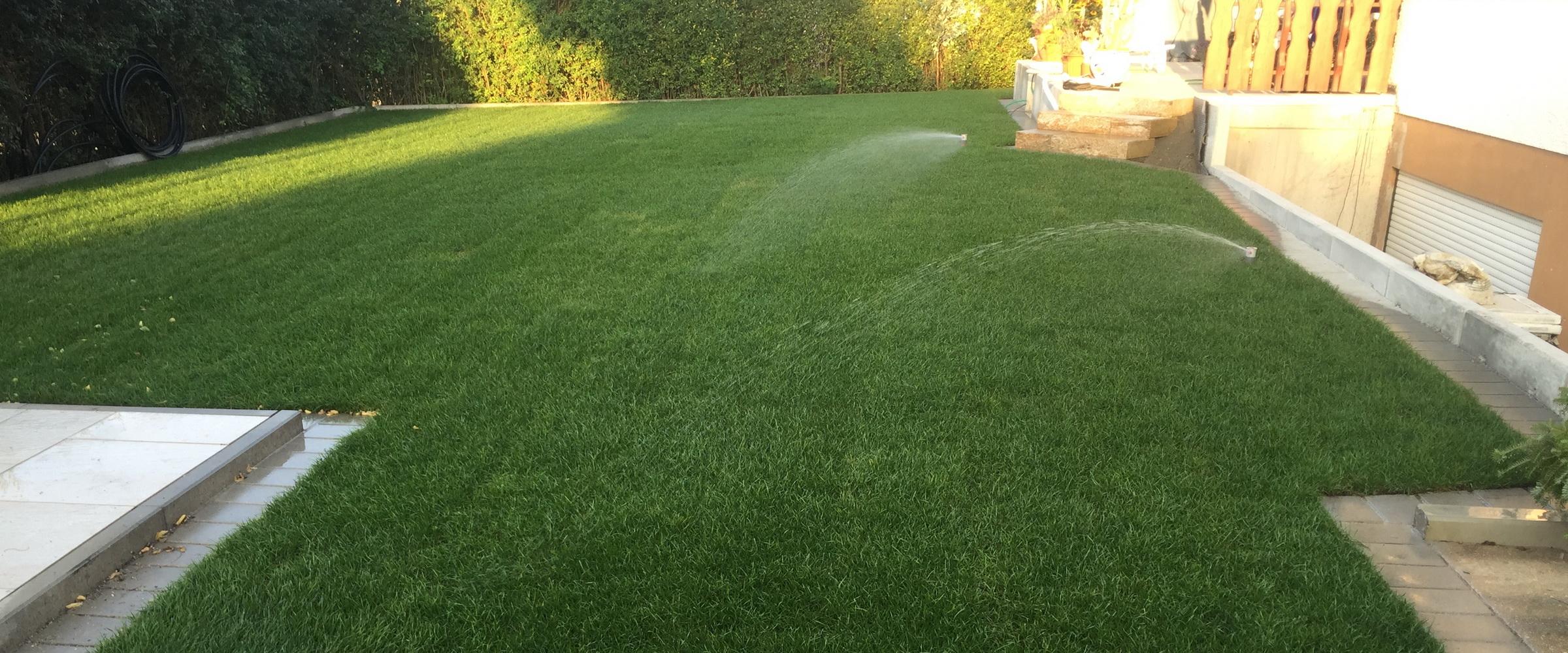 ... kümmern uns auf Wunsch um den Einbau einer Bewässerungsanlage...