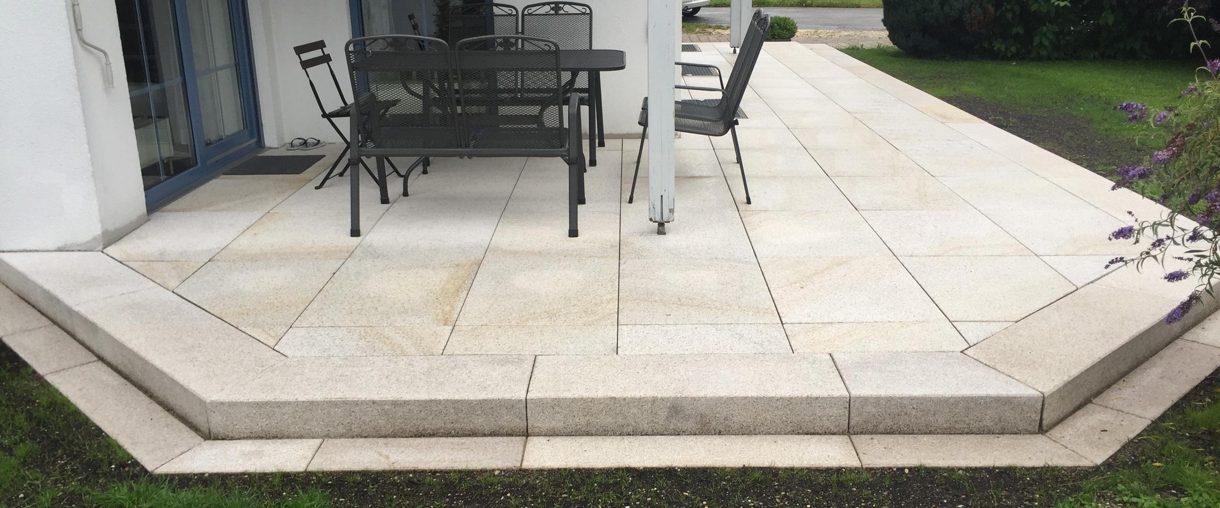 Schräg geschnittene Kanten geben Ihrer Terrasse einen ganz besonderen Look